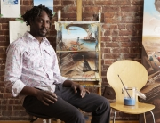Kario Crosby | Painter, photographed in Harlem NYC
