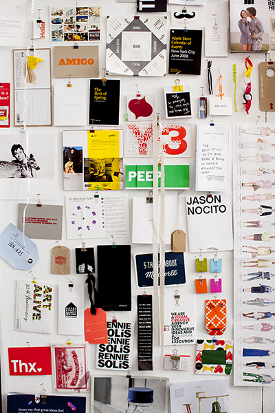 inspiration board at SET creative agency