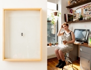 Laura Manns at home in Brooklyn
